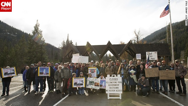 Yellowstone and other national parks have reopened, but some Americans missed them so much that they staged protests at the gates.