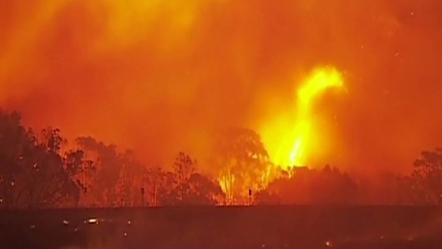 Bush fires raging in Australia