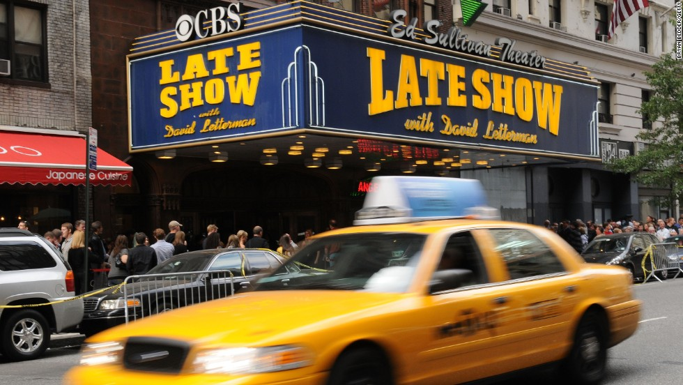 From the Ed Sullivan Theater in New York City, the Late Show with David Letterman is famous for its nightly Top Ten List.