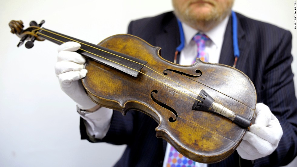 "Titanic band leader Wallace Hartley's violin sold for $1.7 million at Henry Aldridge and Son Auctioneers in Devizes, England -- by far the highest ever fetched for memorabilia tied to the <a href=""http://www.cnn.com/2013/10/19/world/europe/titanic-violin-auction/"" target=""_blank"">sunken passenger ship</a>."