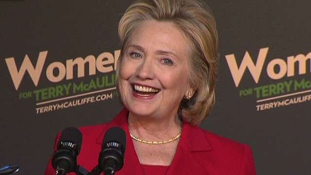 Hillary Clinton rallies for McAuliffe