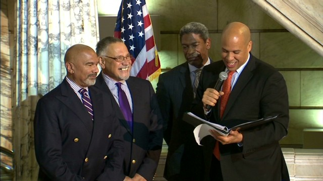 New Jersey same-sex couples trade vows