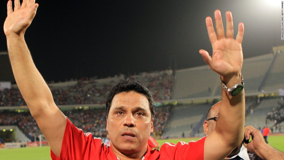 Coach Hossam al-Badri was shot at after his team Al-Ahly Tripoli had drawn a league match. The 53-year-old Al-Badri steered Cairo's Al -Ahly to the African Champions League title last November before joining the Libyan club in May.