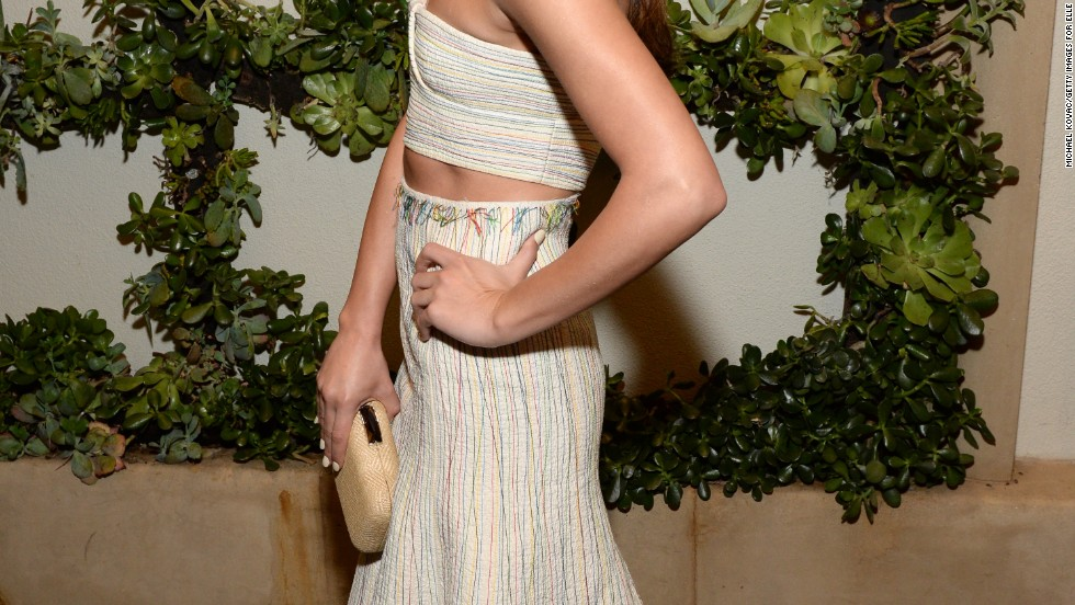 Lea Michele shows off a sleek look at Elle magazine's 20th annual Women in Hollywood event on October 21.