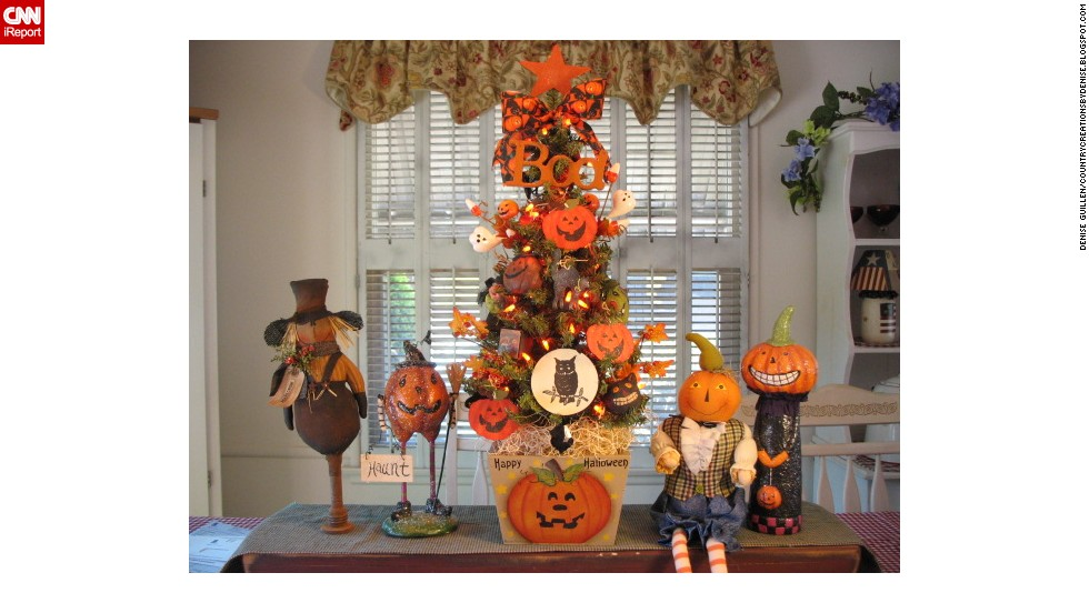 "<a href=""http://ireport.cnn.com/docs/DOC-1050693"">Denise Guillen</a> wanted an early start for Christmas this year, so she decorated small trees around her home in a Halloween style."