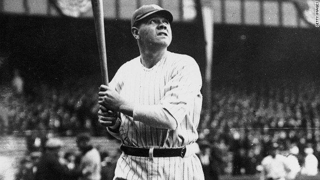 Hall of Famer Babe Ruth hit 60 home runs in 1927.