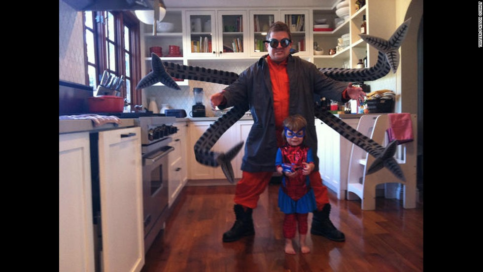We'd be more worried about whether Patton Oswalt's Doctor Octopus costume was scary to kids if it wasn't so awesome.