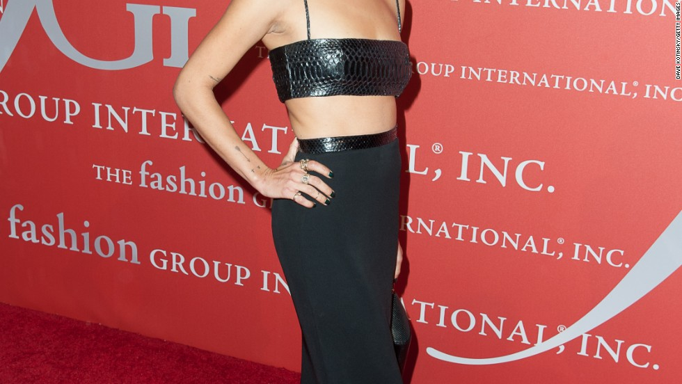 Zoe Kravitz wears a fashionable two-piece gown to the 30th Annual Night Of Stars presented by The Fashion Group International on October 22.