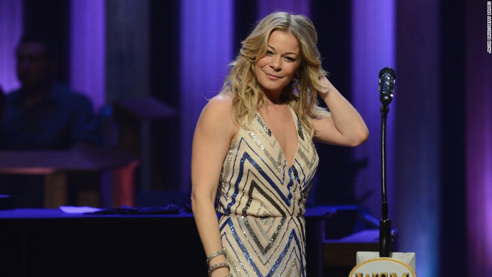LeAnn Rimes performs at the Grand Ole Opry on October 22.