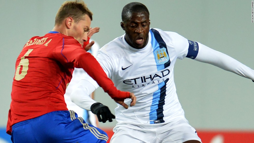"Manchester City's Yaya Toure says he was subjected to ""monkey chants"" during a European Champions League match against CSKA Moscow in 2013."