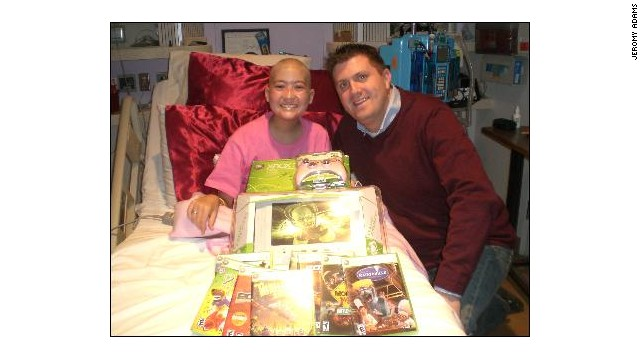 Jeromy Adams hoped video games would help Tori Enmon through her cancer treatments.
