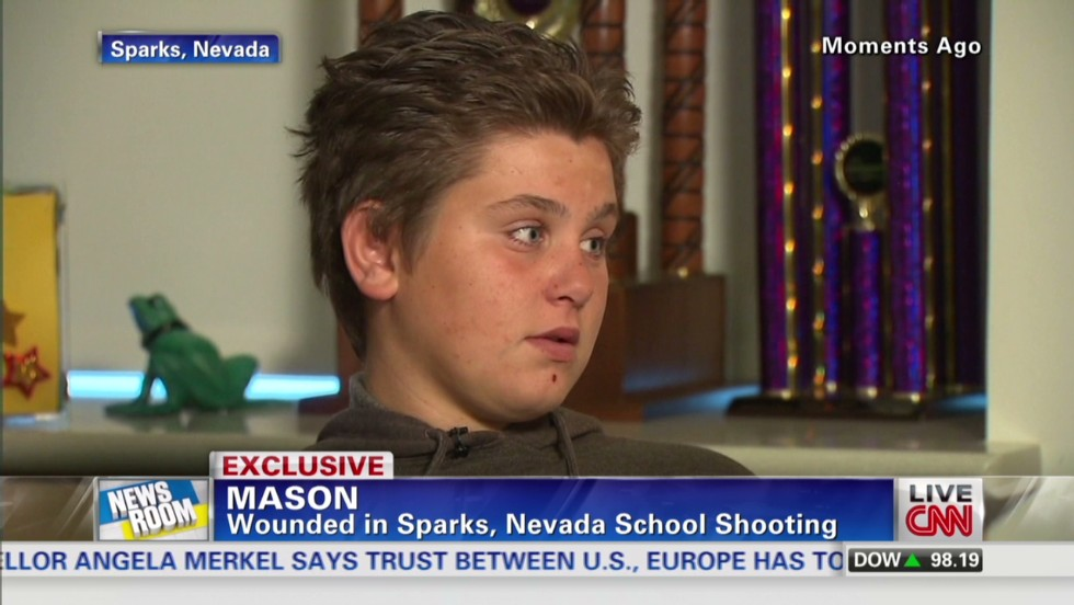 'Please don't shoot': Wounded survivor, 12, recalls Nevada school attack