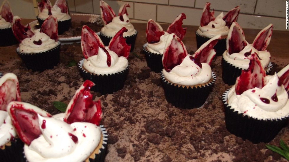 "Also from the <a href=""https://www.facebook.com/TheDaintyBakehouse"" target=""_blank"">Dainty Bakehouse</a>, severed cherry rabbit ears anybody?"