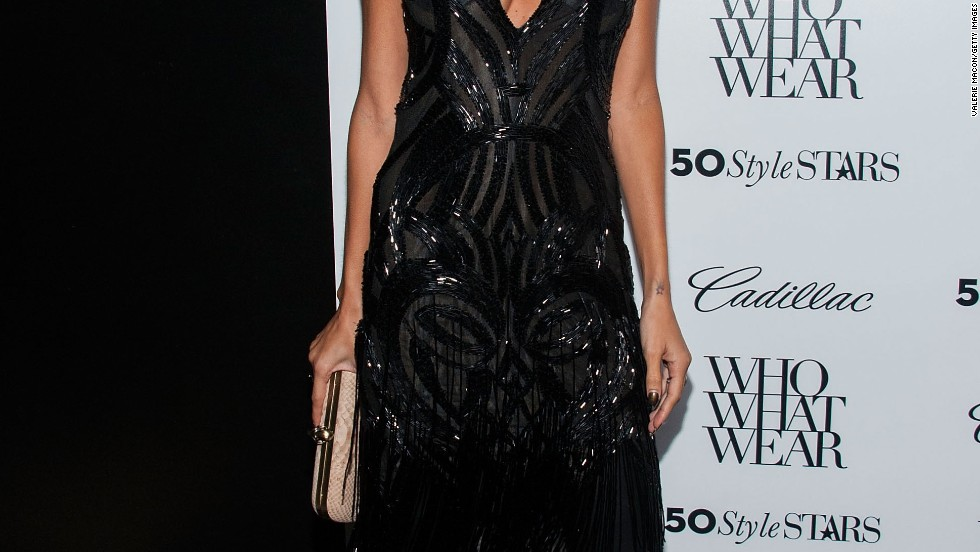 Nicole Richie's style takes a feline turn at the Who What Wear And Cadillac's 50 Most Fashionable Women Of 2013 event on October 24.