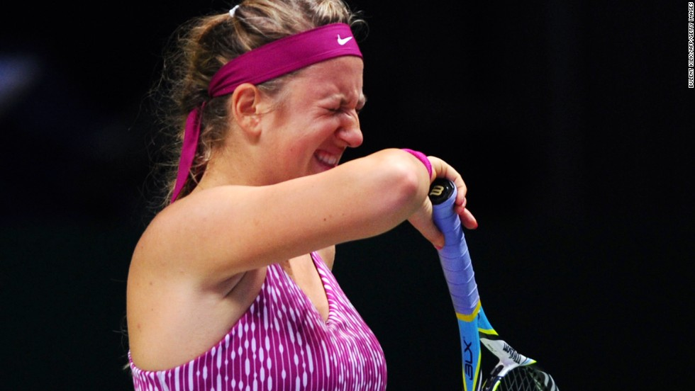 The 31-year-old comfortably beat world No. 2 Victoria Azarenka, who refused to retire despite a debilitating back spasm that ended her chances of repeating her run to the 2011 final.