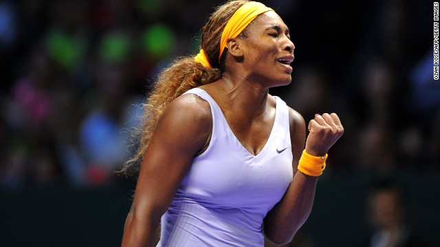 Serena Williams fought off a determined Jelena Jankovic to reach the final of the WTA Championhips in Istanbul.