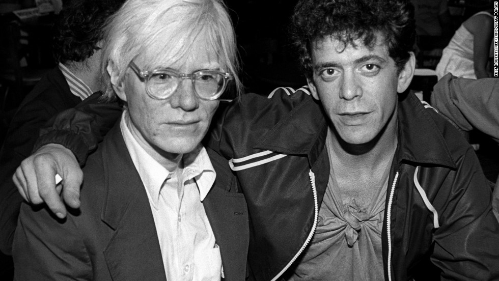 Andy Warhol, left, and Reed at a David Johansen show at the Bottom Line in New York City on July 20, 1978.