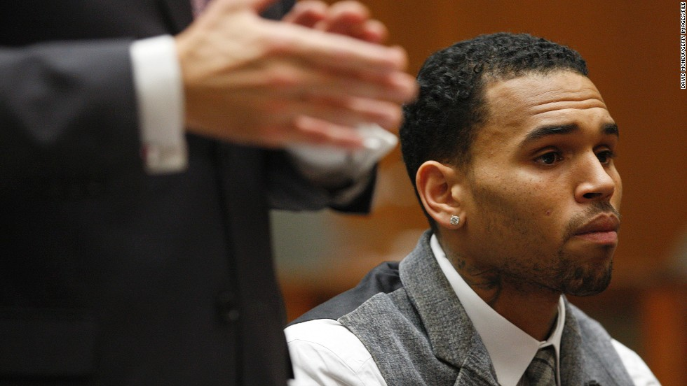 "<strong>September 2012: <a href=""http://www.cnn.com/2012/09/25/showbiz/chris-brown-probation-marijuana/index.html""></strong>Brown's streak of glowing probation reports</a> came to an end on September 5 when the judge lectured him for testing positive for marijuana use in Virginia. The drug test failure did not result in a probation violation, although pot is illegal in Virginia. Brown told authorities he ingested the marijuana in California, where he has a medical marijuana card, according to the judge. Rihanna tweeted to Brown: ""I'm praying for you and wishing u the best today!"" Brown responded, ""Thank u so much."" Here Brown appears in court in September 2013."