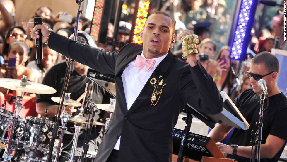 "<strong>February 2010: <a href=""http://www.cnn.com/2010/CRIME/02/18/chris.brown.hearing/index.html"" target=""_blank""></strong>Brown earned a glowing probation report six months</a> after he was sentenced to ""labor-oriented service"" for assaulting Rihanna. ""It looks like you're doing really, really well,"" Judge Patricia Schnegg told Brown during a February 18 probation hearing.  The police chief in Richmond, Virginia -- where Brown was allowed to complete his sentence -- reported the singer had worked 32 days of hard labor. Here Brown performs on NBC's ""Today"" show in July 2011."