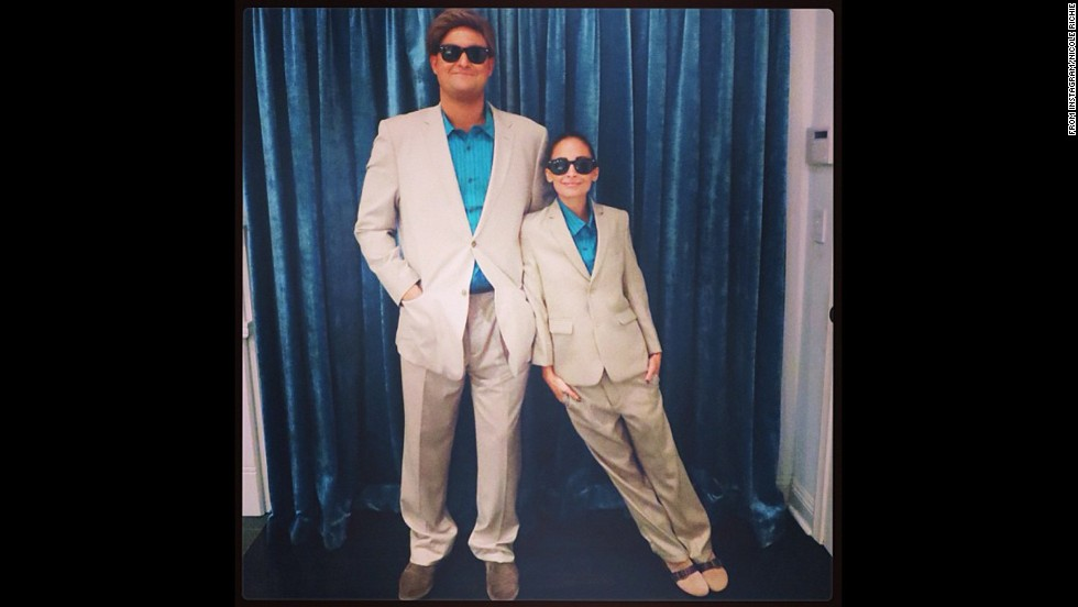 "<a href=""http://instagram.com/p/f-T_b5pure/"" target=""_blank"">Nicole Richie</a> channeled the '80s Danny DeVito classic ""Twins"" for her 2013 Halloween costume."