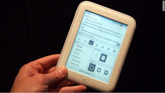 A 4GB version of the new Nook GlowLight, the ultra-light e-reader from Barnes & Noble, sells for $119.