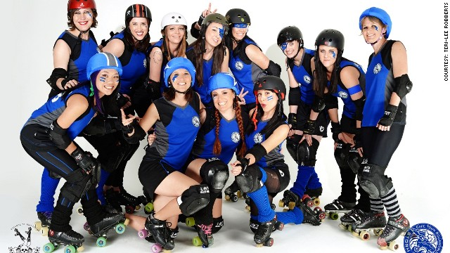 'Dainty, but slightly aggressive': Roller girls get their skates on