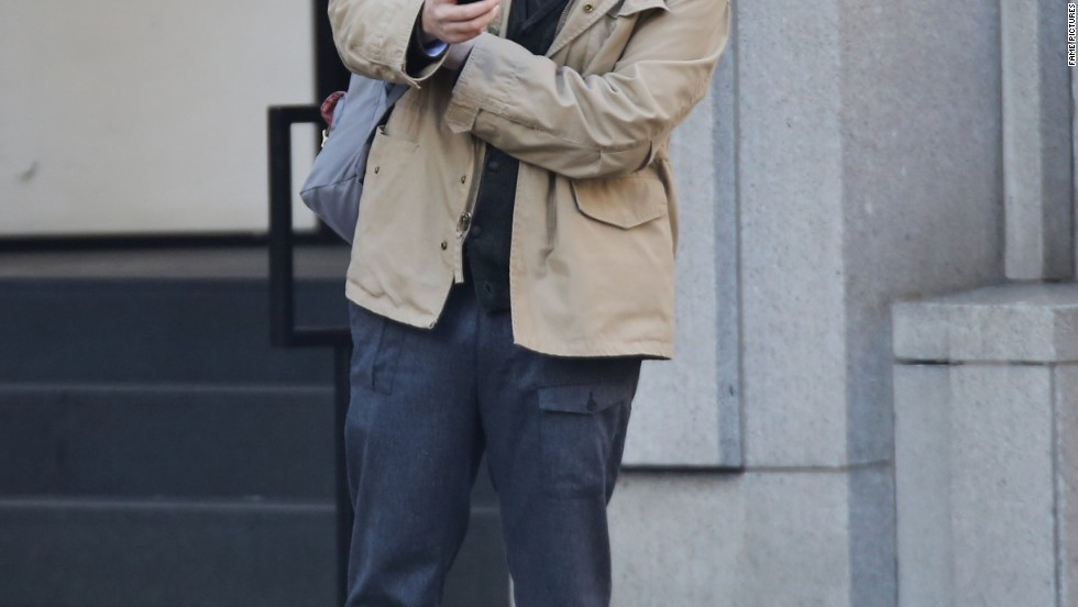 "Seth Rogen was either laughing at himself, or laughing while in character as he filmed ""The Interview"" in Vancouver on October 29."