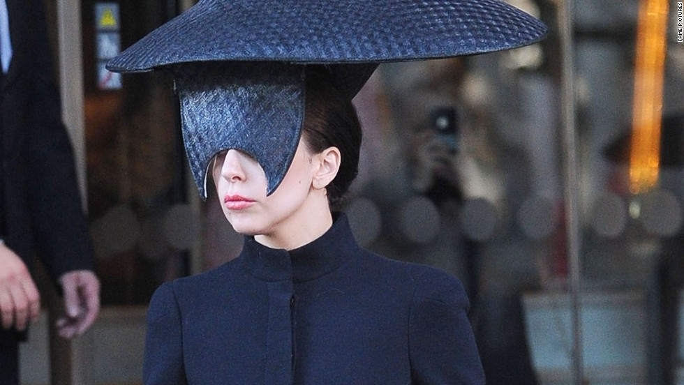 Lady Gaga's mask-of-the-day extravaganza continued in London on October 30.