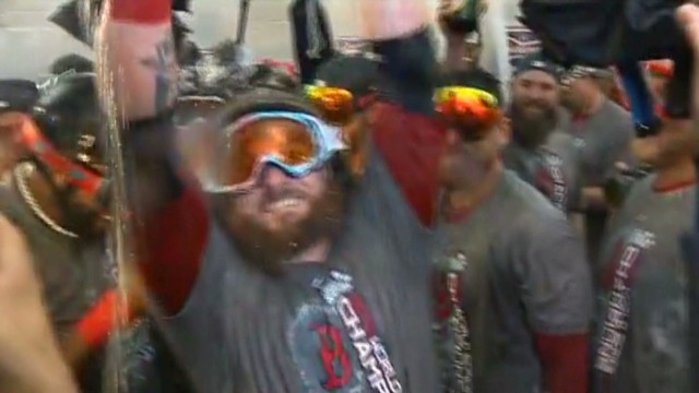 The Red Sox celebrate their victory