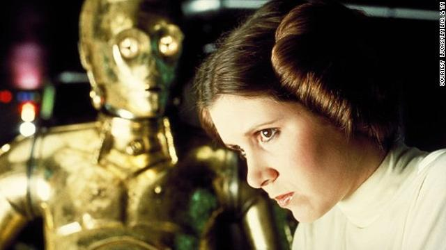 "Carrie Fisher first played Princess Leia in the 1977 film ""Star Wars."""