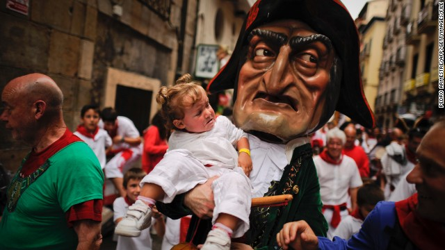 Pamplona's pageantry: The Giants and Big Heads Parade.