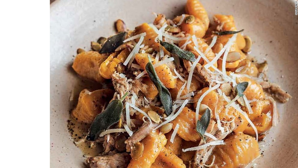 "Pumpkin Malfatti, Duck Confit & Sage -- <a href=""http://eatocracy.cnn.com/2013/11/05/55-classic-pasta-shapes-to-master/"">Get the recipe </a>"