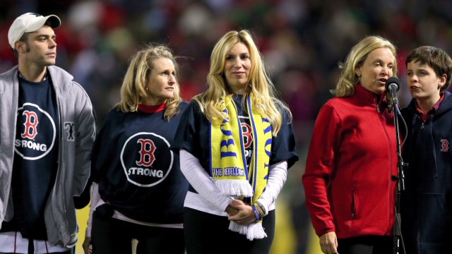 Marathon survivors celebrate Red Sox