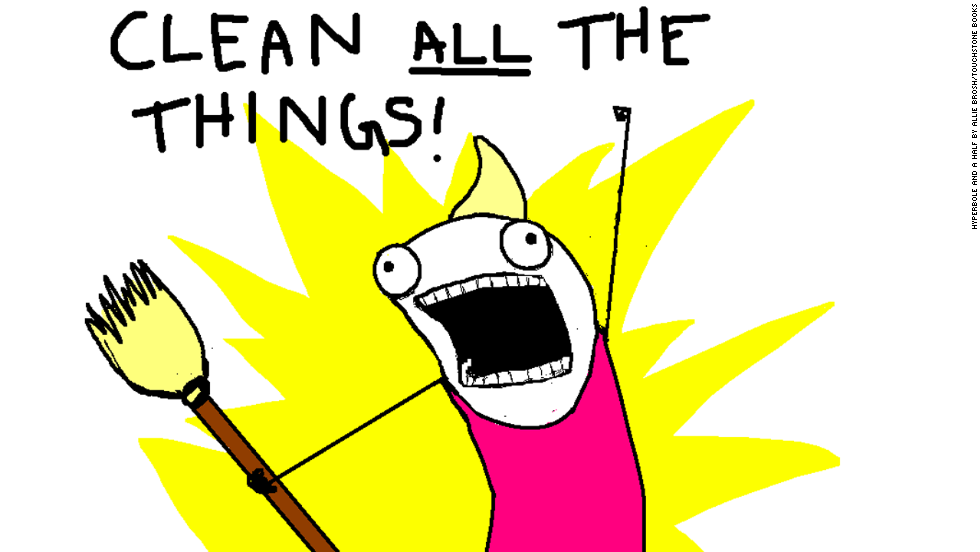 "Allie Brosh, creator of the online comic Hyperbole and a Half, recently published the book, ""Hyperbole and a Half: Unfortunate Situations, Flawed Coping Mechanisms, Mayhem and Other Things that Happened,"" based on her blog. This illustration, from her Hyperbole and a Half comic titled, <a href=""http://hyperboleandahalf.blogspot.com/2010/06/this-is-why-ill-never-be-adult.html"" target=""_blank"">""This is Why I'll Never be an Adult,""</a> inspired a meme. Brosh said her illustrated version of herself is ""not of how I look, but of how I am. Deep down, I'm this absurd, weird thing."""