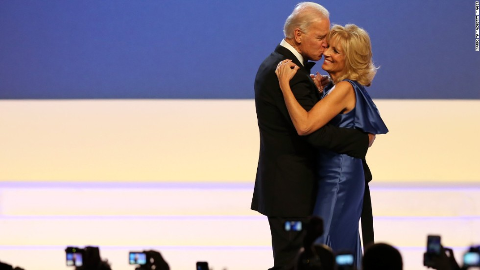 Biden and his wife, Jill, dance during an inaugural ball in January 2013.