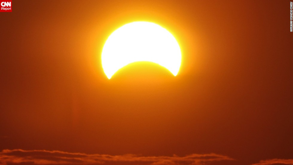 The hybrid eclipse was a rare event because it was an annular-total eclipse, meaning it was annular for part of its path and total for other parts, NASA said.