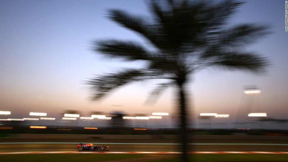 Abu Dhabi provides the only day/night race on the F1 calendar.