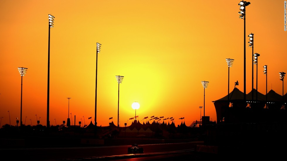 As the sun sets in the emirate, the floodlights take over.