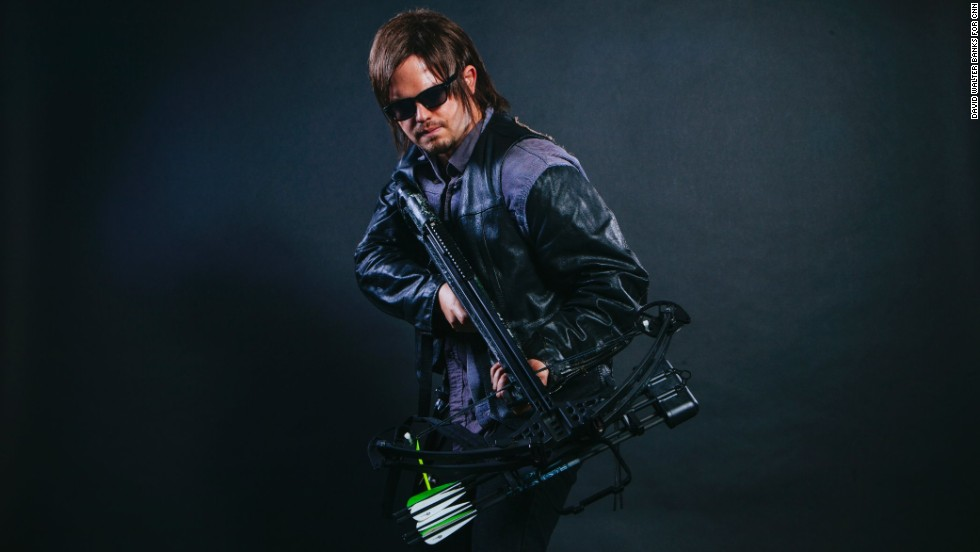 "Rich Feezle dressed as Daryl Dixon from ""The Walking Dead."""