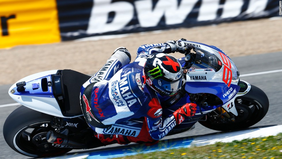 Hot on Marquez's heels is his compatriot Jorge Lorenzo, a two-time world champion who is 13 points behind Marquez in second place overall.