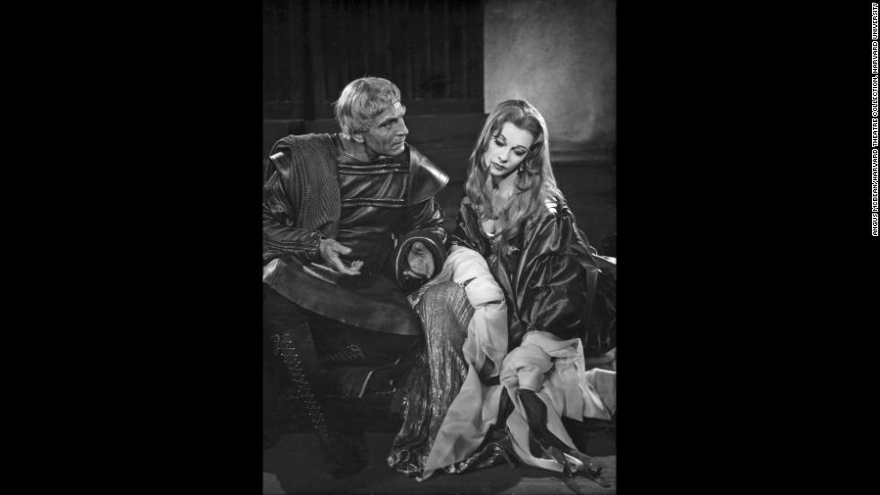 "Leigh suffered through a ""manic phase"" while performing in  Shakespeare's ""Titus Andronicus"" with Olivier in 1955, Bean said. ""It was really difficult for Olivier to keep a hand on the situation and for her to bring her full abilities to the play because she was having trouble concentrating."" Leigh's character, the daughter of Olivier's Titus, had her tongue cut out and hands chopped off. The play was the last of three the couple did that summer at the Shakespeare Memorial Theatre at Stratford-upon-Avon.<br /><em>Image courtesy of ""Vivien Leigh: An Intimate Portrait"" (Running Press)</em>"