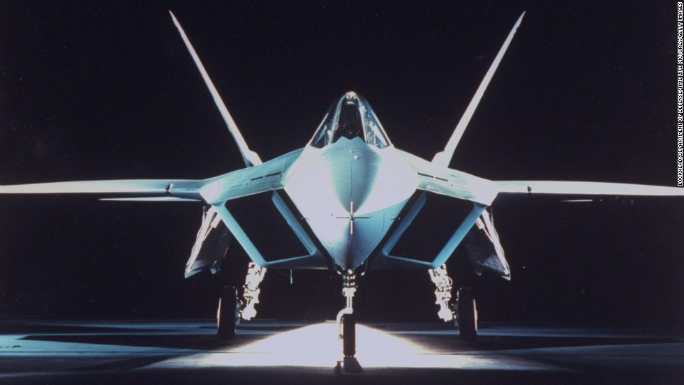 The YF-22A fighter, first produced in 1990, used stealth technology and became the first fighter-type aircraft to achieve sustained supersonic flight without employing afterburner.