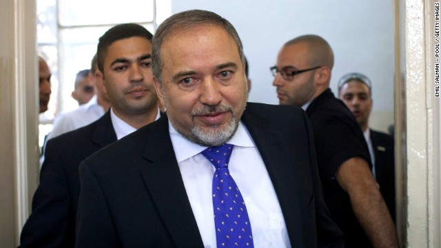 Former Israeli Foreign Minister, Avigdor Lieberman attends court to hear the verdict in his trial in which is he is facing charges of fraud and breach of trust, at Jerusalem Magistrates Court on November 6, 2013 in Jerusalem, Israel.