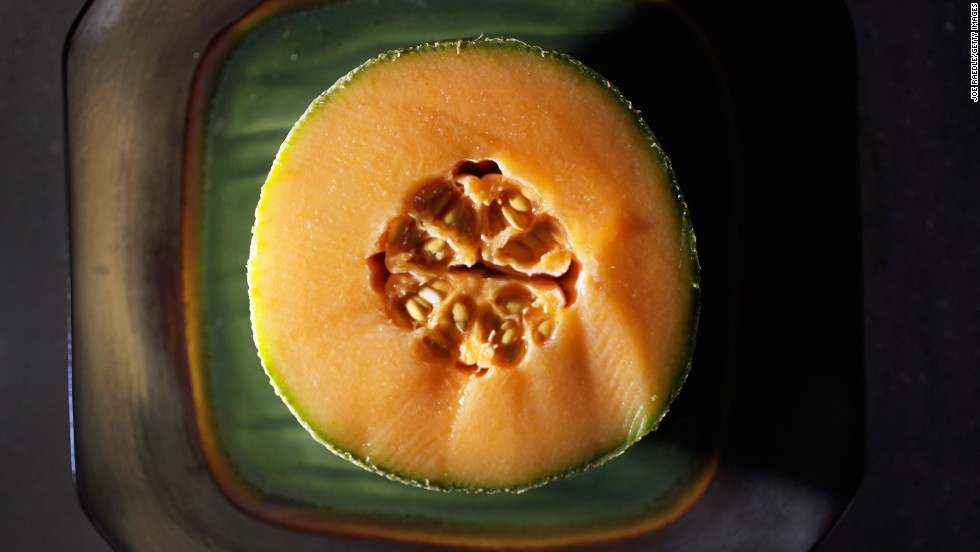 "<strong>Cantaloupe</strong><br />Water content: 90.2%<br /><br />This succulent melon provides a big nutritional payoff for very few calories. One six-ounce serving — about one-quarter of a melon — contains just 50 calories but delivers a full 100% of your recommended daily intake of vitamins A and <br />.<br /> ""I love cantaloupe as a dessert,"" Gans says. ""If you've got a sweet tooth, it will definitely satisfy."" Tired of plain old raw fruit? Blend cantaloupe with yogurt and freeze it into sherbet, or puree it with orange juice and mint to make a refreshing soup."