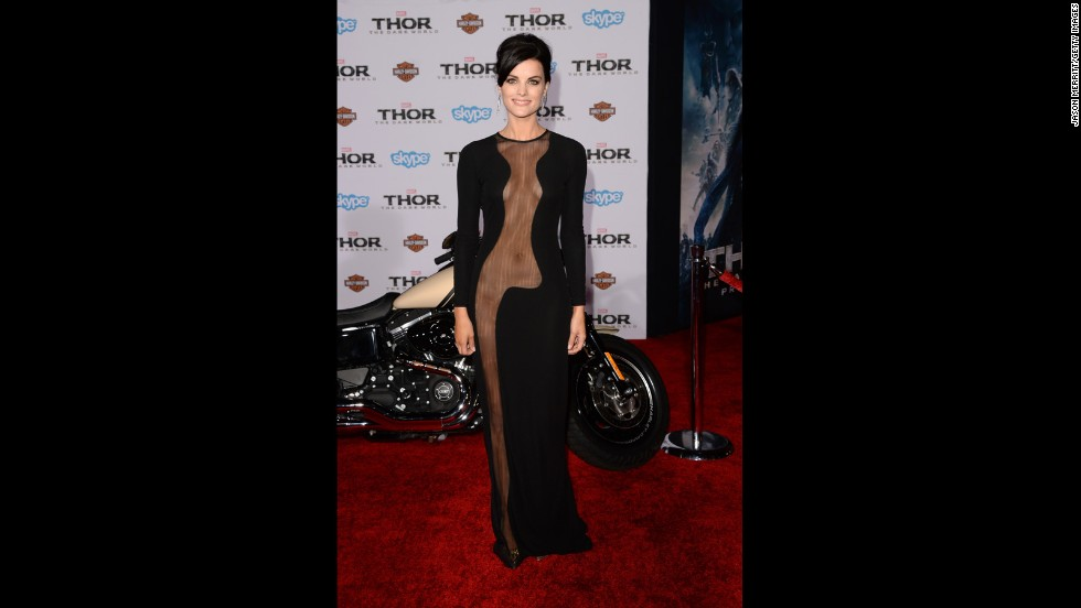 "What movie premiere? Jaimie Alexander stole the show when she showed up to a ""Thor: The Dark World"" film premiere in a revealing gown. But she's not the only one to have a scandalous red carpet moment."