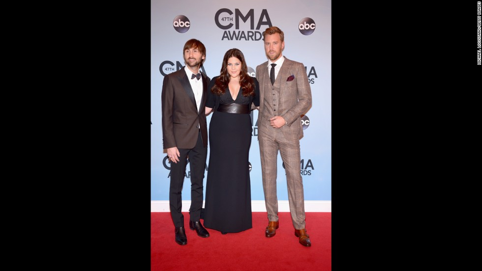 Dave Haywood, Hillary Scott and Charles Kelley of Lady Antebellum