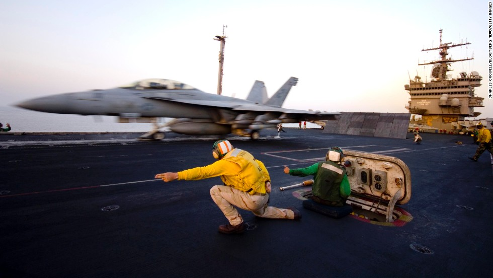 An F/A-18 Hornet launches from the USS Enterprise in 2007. The Enterprise, the world's first nuclear-powered aircraft carrier, was decommissioned in 2012. Like the John F. Kennedy, it was the only ship built in its class.