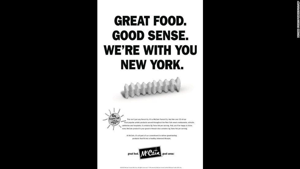 "In 2007, New York became the first city to ban the use of partially hydrogenated vegetable oils and spreads in restaurants. A <a href=""http://www.cnn.com/2012/07/16/health/nyc-fat-ban-paying-off/"">five-year follow-up study</a> showed that the average trans fat content of New York customers' meals dropped from about 3 grams to 0.5 grams. The ban encouraged food companies across the country to remove trans fat from their products."
