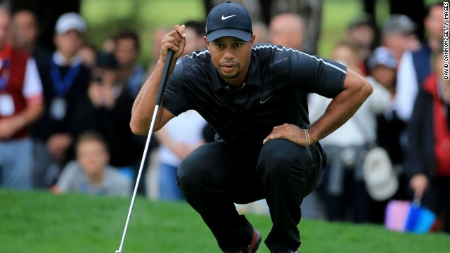 Tiger Woods was thwarted by adverse weather conditions on the opening day of the Turkish Open.