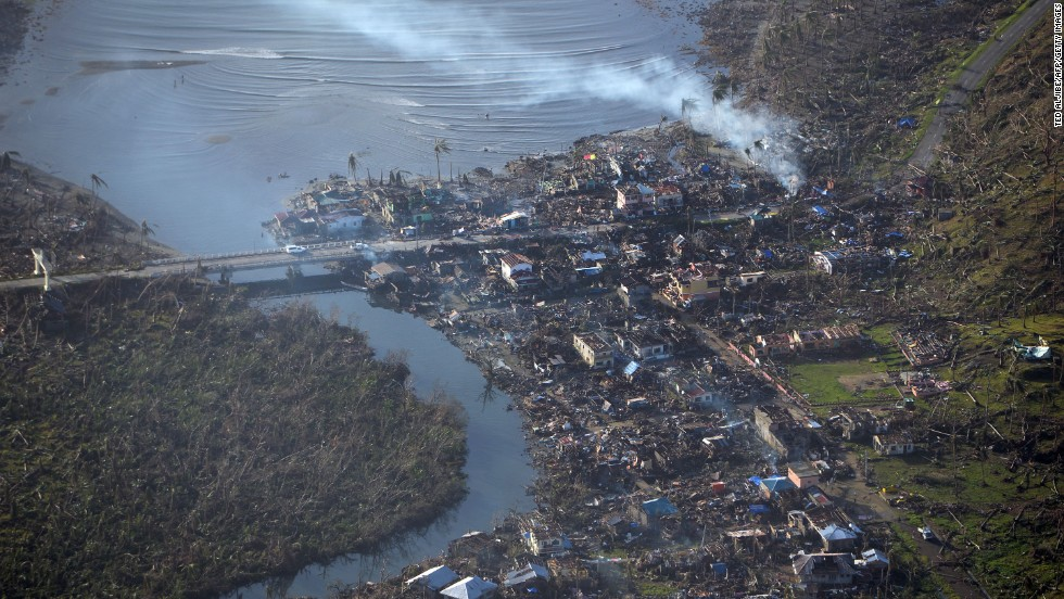 Eastern Samar province on November 11